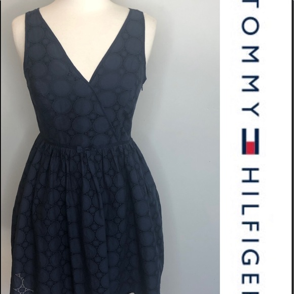 tommy hilfiger dress navy blue